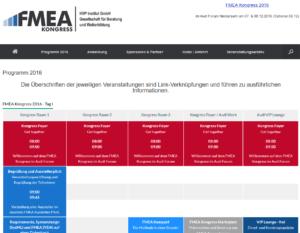 FMEA Kongress 2016 Programm