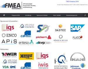 FMEA Kongress 2016 Sponsoren