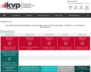 KVP Kongress 2016 Programm