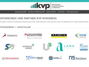 KVP Kongress 2018 Sponsoren und Aussteller